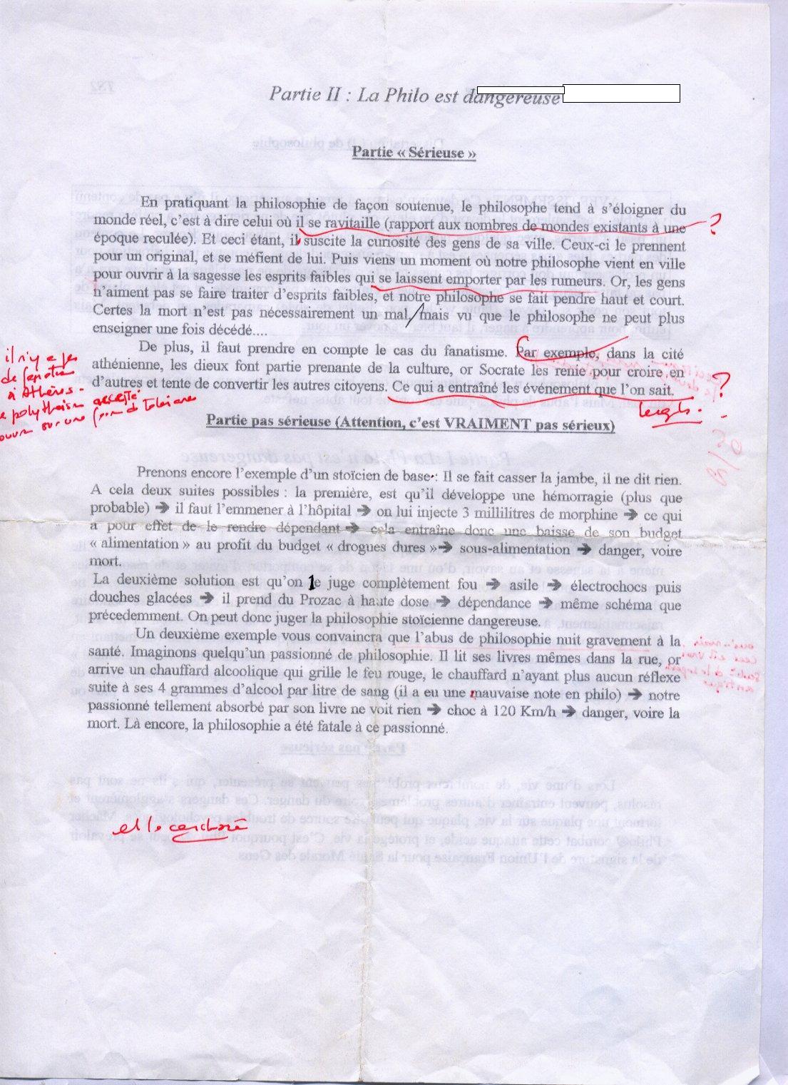 Sujets de Philo corrigs - plans de dissertation rdigs